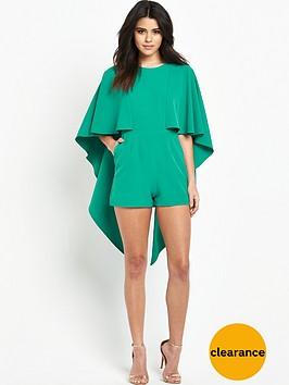 lavish-alice-open-tie-back-cape-playsuit
