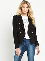 DOUBLE BREASTED CROP BLAZER