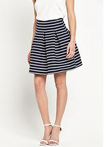 Striped Full Mini Skirt