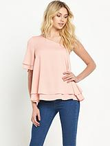 One Shoulder Floaty Top