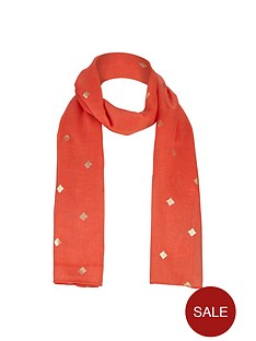 v-by-very-girls-foil-print-scarf