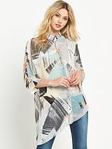 Printed Asymmetric Blouse