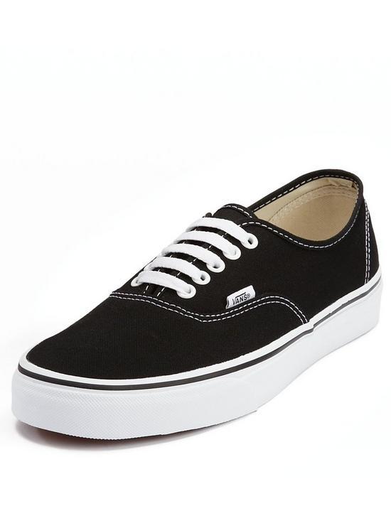 e1f949f5760f Vans Authentic Plimsolls - Black White
