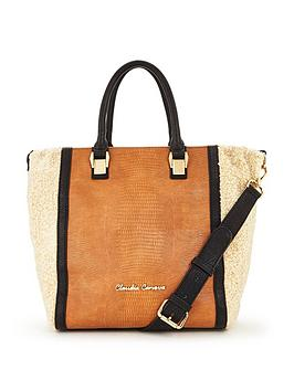 claudia-canova-faux-shearling-tote-bag