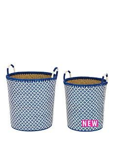 set-of-2-laundry-hampers-blue