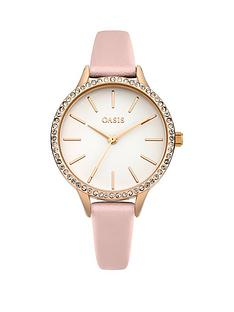oasis-oasis-white-glossy-dial-pink-pu-strap-ladies-watch
