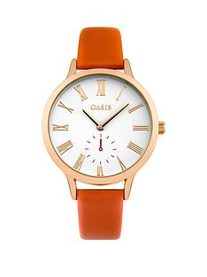 oasis-oasis-white-dial-orange-pu-strap-ladies-watch