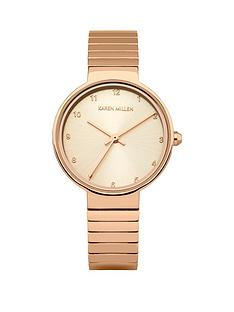 karen-millen-karen-millen-light-rose-gold-sunray-dial-solid-stainless-steel-iprg-plated-polished-strap-ladies