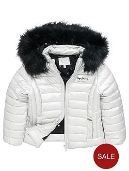 pepe-jeans-girls-jaya-fur-trim-padded-jacket