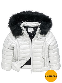 pepe-jeans-girls-jaya-fur-trim-padded-jacket