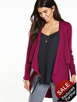 v-by-very-ribbed-drape-front-edge-to-edge-cardigannbsp
