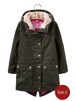 joules-girls-faux-wax-parka