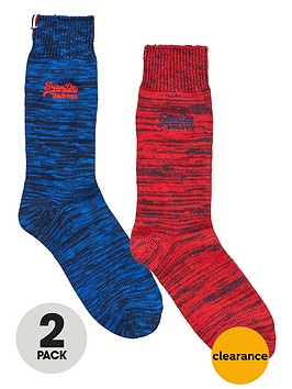 superdry-2pk-boot-sock