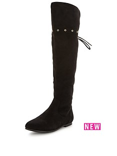 v-by-very-earl-knee-high-fauxnbspsuede-flat-bootsnbsp