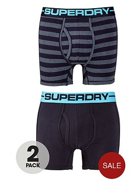 superdry-2pk-stripeplain-boxer