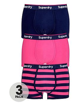 superdry-3pk-stripeplain-trunk