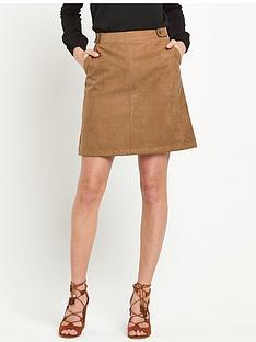 oasis-oasis-suedette-tab-detail-skirt