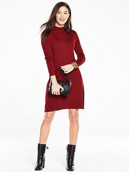 v-by-very-turtleneck-swing-knit-dressnbsp