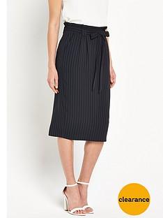 oasis-pinstripe-paperbag-skirt-black