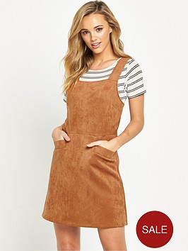 oasis-suedette-pinafore-dress