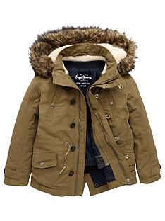 pepe-jeans-boys-cody-fur-trim-parka