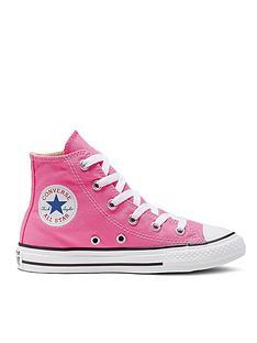 converse-all-star-hi-junior-kids-plimsolls-pink