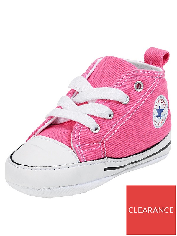Brand New Gorgeous Little Girls Converse Style Pink Pram