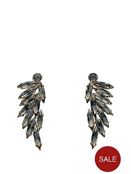 fiorelli-gold-and-grey-leaf-cluster-earrings