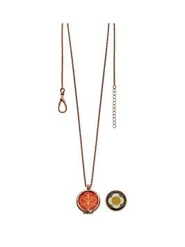 orla-kiely-rose-gold-plated-reversible-pendant-necklace