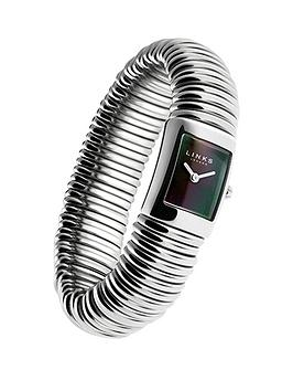 links-of-london-sweetie-bracelet-stainless-steel-black-dial-ladies-watch