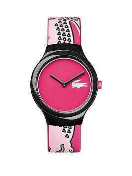 lacoste-lacoste-goa-pink-dial-pink-patterened-strap-ladies-watch