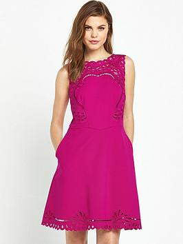 ted-baker-embroidered-skater-dressnbsp