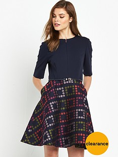 ted-baker-horticultural-check-dress-navy