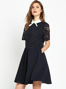 ted-baker-lace-bodice-double-layer-dress