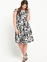 Print Scuba Prom Dress