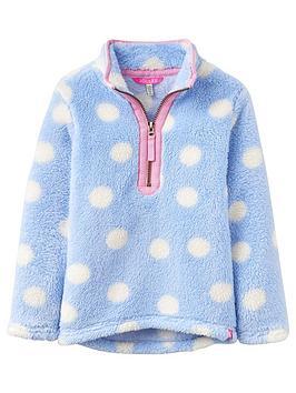 joules-girls-half-zip-spot-merridie-fleece