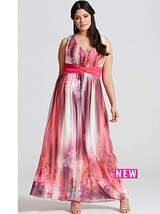 little-mistress-curve-galaxy-print-chiffon-maxi-dress