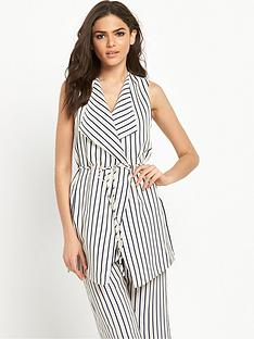 river-island-stripe-sleeveless-jacket