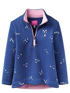 joules-girls-half-zip-star-fleece