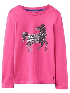 joules-girls-sequin-horse-top