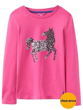 joules-girls-sequin-horse-top