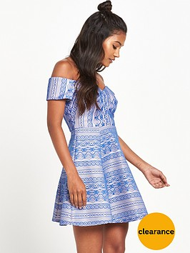 river-island-lace-bardot-skater-dress