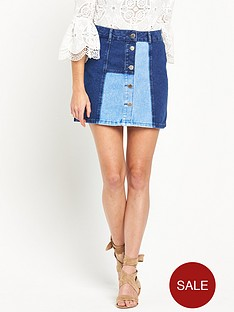 river-island-a-line-patchwork-denim-skirt