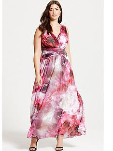 little-mistress-curve-blurred-floral-print-embellished-maxi-dress