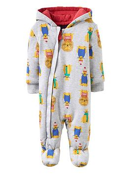 joules-lion-wadded-pramsuit