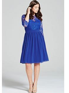 little-mistress-curve-embellished-long-sleeve-shift-dressnbsp