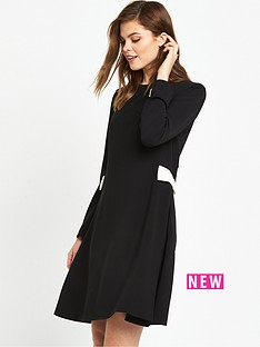 ted-baker-side-bow-long-sleeve-dressnbsp