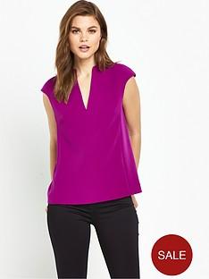 ted-baker-high-neck-long-back-panel-top-purple
