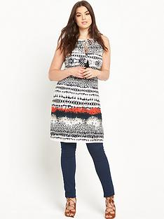 so-fabulous-tassel-tie-border-print-tunic-top