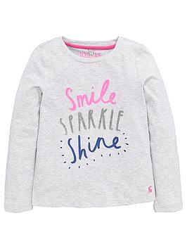joules-girls-long-sleeve-sparklenbspslogan-t-shirt